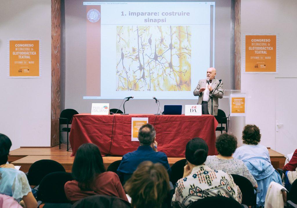 Il Professor Balboni a Madrid nel IIIº Convegno Internazionale di Glottodidattica Teatrale in Spagna