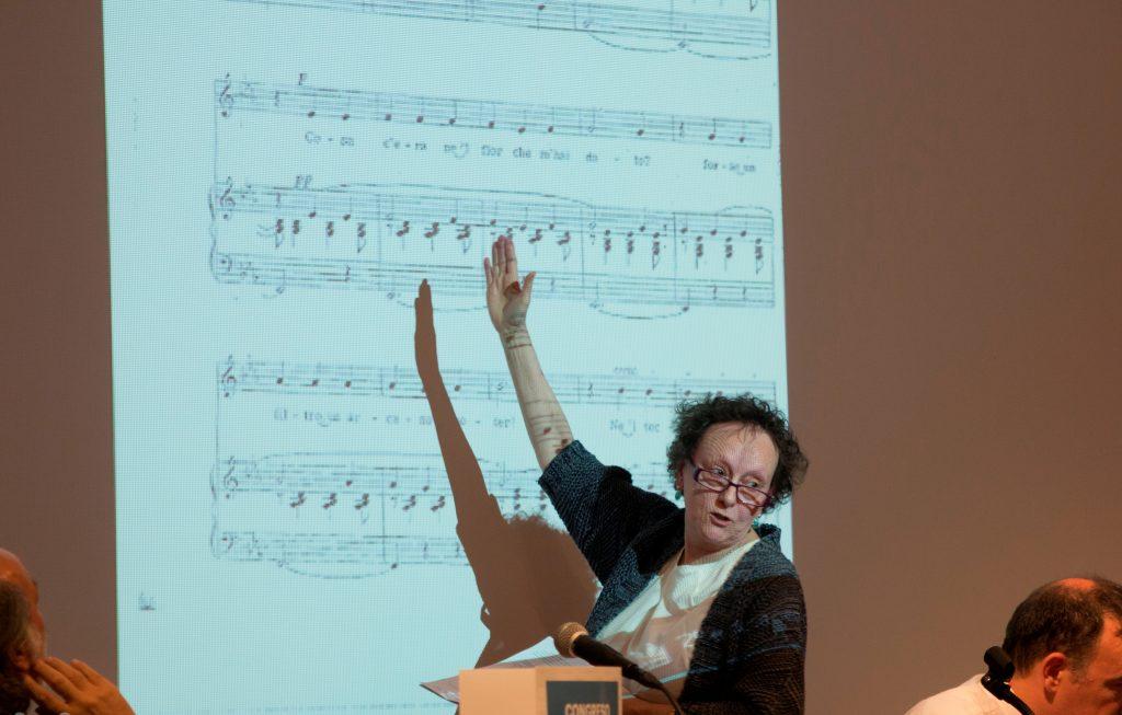 Profesora Conchita Turina_II Congreso Internacional de Glotodidáctica de Madrid