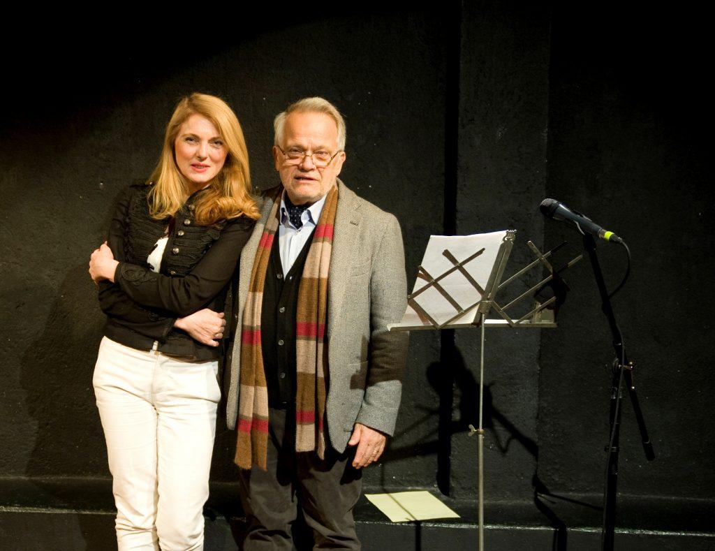 Paolo Puppa e Donatella Danzi prima dello spettacolo La famiglia che uccide_Madrid_15 novembre 2016
