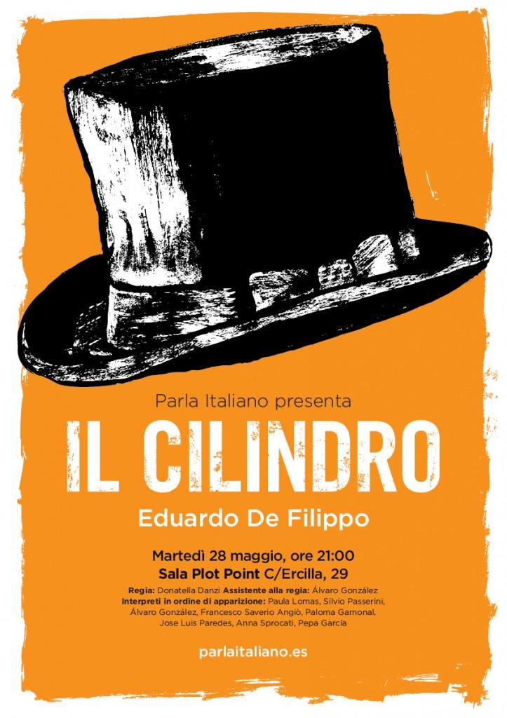 Il cilindro_Eduardo De Filippo_Parla Italiano Facendo Teatro_regia di Donatella Danzi (poster realizzato da Donatella Madrigal Danzi)