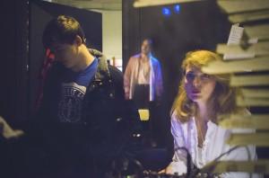 Omaggio_Dino Campana_Donatella Danzi in sala regia con Roberto